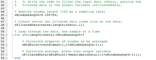 Code for custom filter